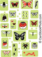 insect set, vector illustration