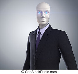New White Collar Worker - robot dressed in a business suit