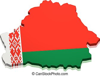 Map Belarus - detailed illustration of a map of Belarus with...