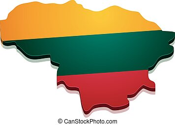 Map Lithuania - detailed illustration of a map of Lithuania...