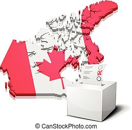 ballotbox Canada - detailed illustration of a ballotbox in...