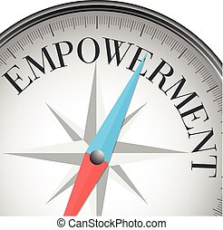compass empowerment - detailed illustration of a compass...