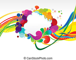 abstract colorful rainbow explode background vector...