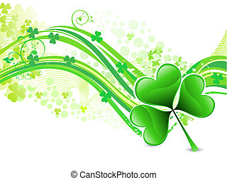abstract artistic st patrick wave background vector...