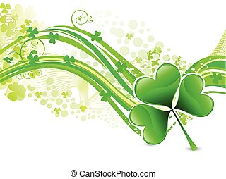 abstract st patrick background - abstract colorful artistic...