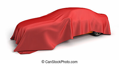 New car covered fabric