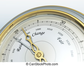 Barometer - 3d render of a barometer