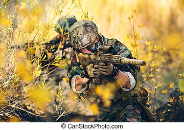 Sniper - sniper and spotter in the field