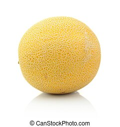 Melon called galia isolated white in studio - Studio shot of...