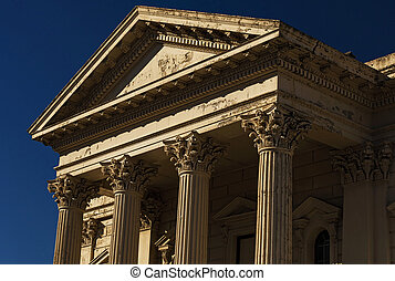 Old Building with Corinthian Pillars. This image is taken in...