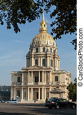 View of Dome des Invalides, burial site of Napoleon...