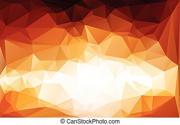 red vivid polygonal mosaic background, Vector illustration,...