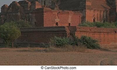Dhammayangyi temple at sunset, Bagan area.