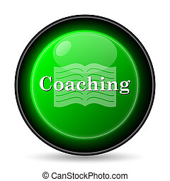 Coaching icon. Internet button on white background.