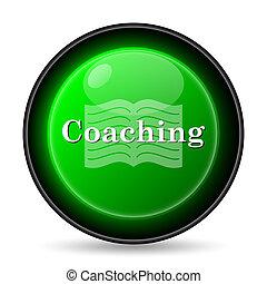 Coaching icon. Internet button on white background.