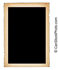 paper frame with frayed edges
