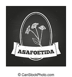 Health and Nature Collection. Badge template with a herb on...