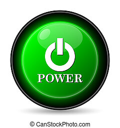 Power button icon Internet button on white background