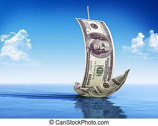 Sailboat made of Dollar