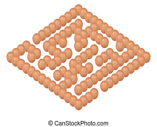 concept of eggs setting Maze or labyrinth form isolated on...