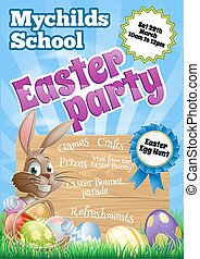 Easter Party Flier - School childrens Easter Party Flier...