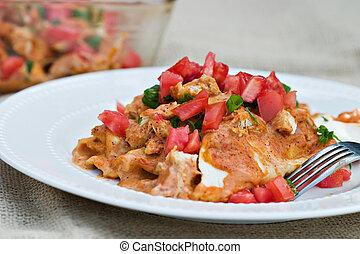 pollo,  Enchiladas