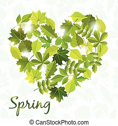 spring background from leaves - spring background from...