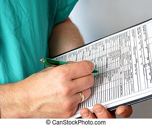 Doctor with medical chart