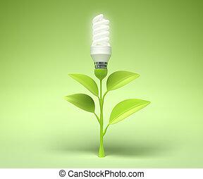 tecnología, símbolo, verde