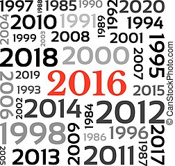 New Year 2016 - Abstract Background - Happy New Year 2016