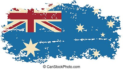 Australian grunge flag. Vector illustration. Grunge effect...