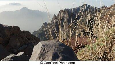 4k; view at Roque De Las Muchachos - Roque De Las Muchachos,...