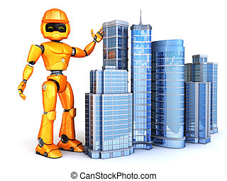 Robot shows new skyscrapers