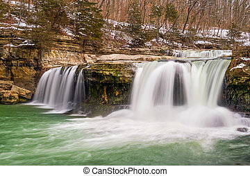 Spring Thaw at the Upper Cataract - Whitewater plunges over...
