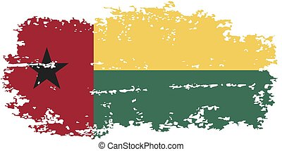 Guinea-Bissau grunge flag. Vector illustration. Grunge...