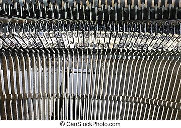 Palancas, de, Un, muy, viejo, Máquina de escribir,