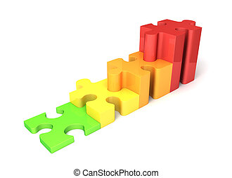 multicolored growing puzzle graph