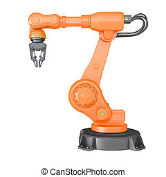 Industrial robot Clipping path included