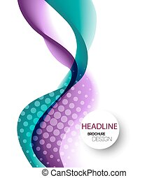 Abstract curved lines background Template brochure design -...