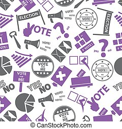 election simple icons pattern