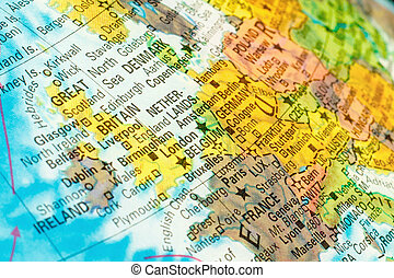 map Netherlands, Belgium Close-up image - map Netherlands,...