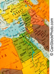 Map of Israel and Lebanon - Map of Israel and Lebanon...