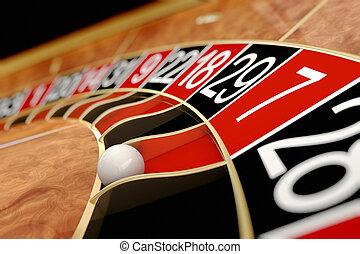 Casino roulette Seven red