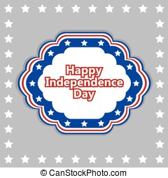 Vector independence day badge. poster