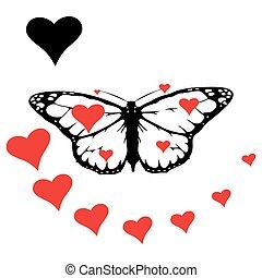 set Monarch Butterfly
