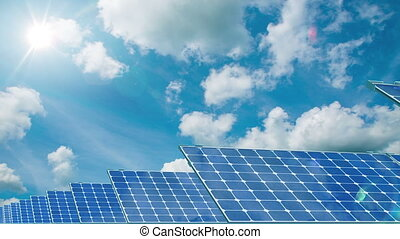 Solar Panels. 4K.