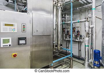 agua, o, destilación, habitación, condicionamiento