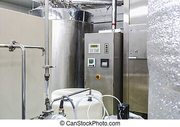 Water conditioning or distillation room and control panel...