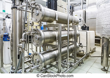 Pipes on pharmaceutical industry or chemical plant - Pipes...