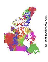 Canada Watercolor Map